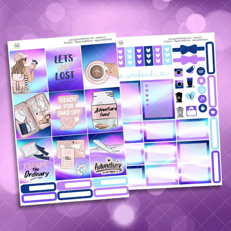 Escape The Ordinary Two Sheet Weekly Planner Sticker Kit
