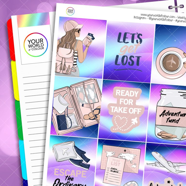 Escape The Ordinary Weekly Planner Sticker Kit