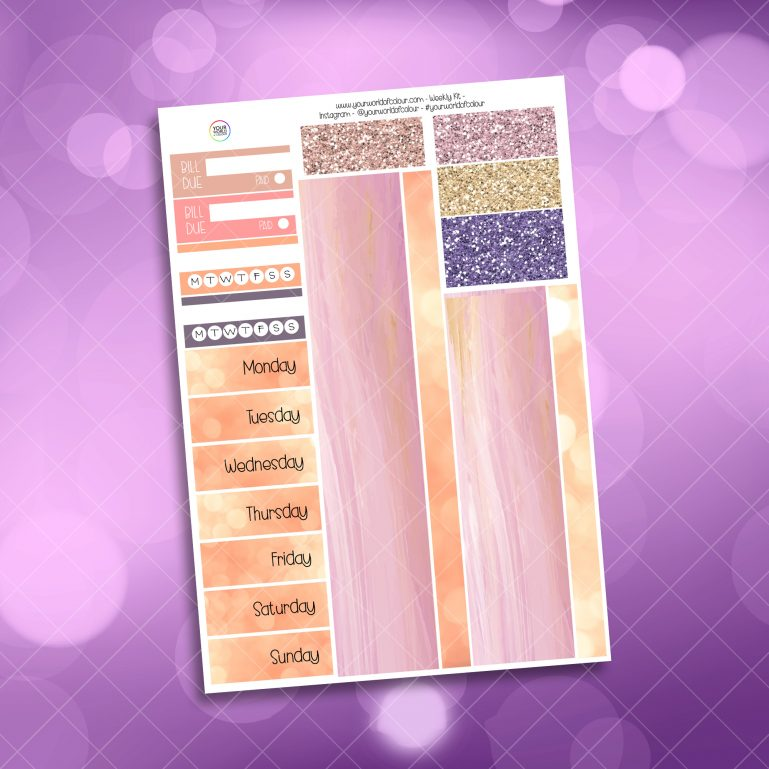 Washi and Date Cover Stickers