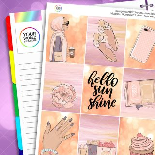 Hello Sunshine Weekly Planner Sticker Kit