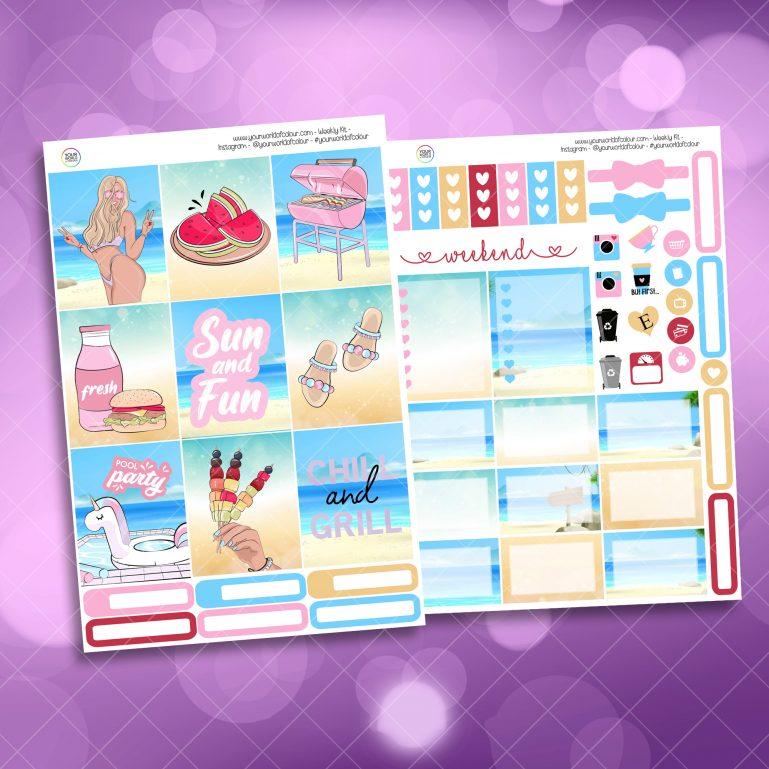 Pool Party 2 page mini kit