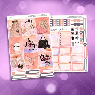 Be Classy Two Sheet Weekly Planner Sticker Kit