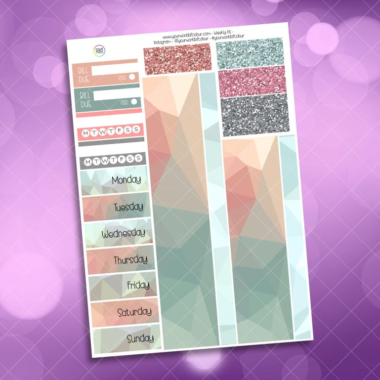 Beach Babe Washi and Date Cover Stickers