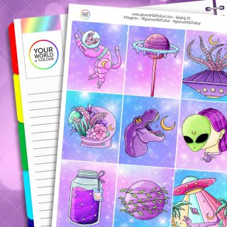 Out Of This World Weekly Planner Sticker Kit