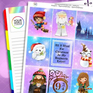 Christmas At Hogwarts Weekly Planner Sticker Kit