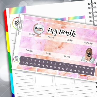 Adventure Monthly Planner Sticker Kit
