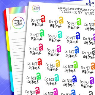Do Not Disturb Planner Stickers