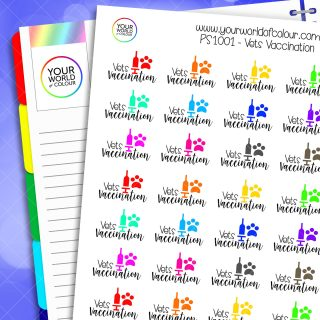 Vets Vaccination Planner Stickers