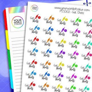 Get Shots Planner Stickers