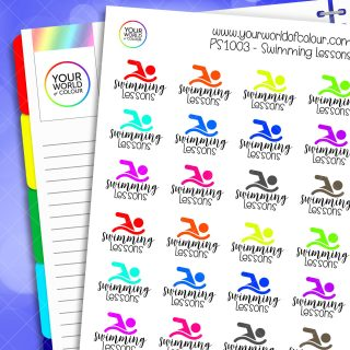 Swimming Lessons Planner Stickers