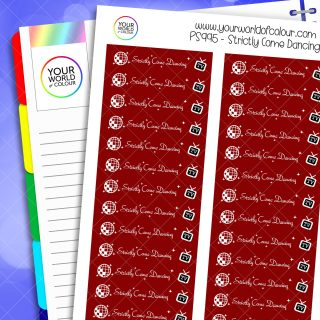 Strictly Come Dancing Planner Stickers