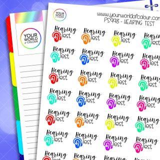 Hearing Test Planner Stickers