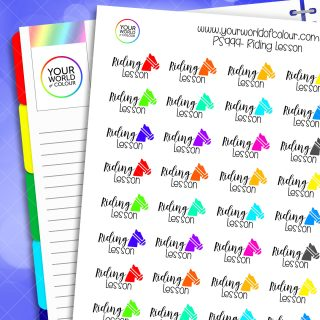 Riding Lesson Planner Stickers