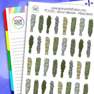 Mixed Herbs Planner Stickers