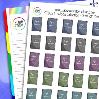 Book Of Shadows Planner Stickers