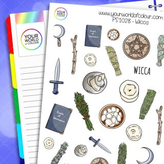 Wicca Planner Stickers