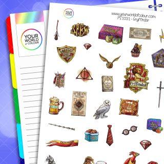 Gryffindor Planner Stickers