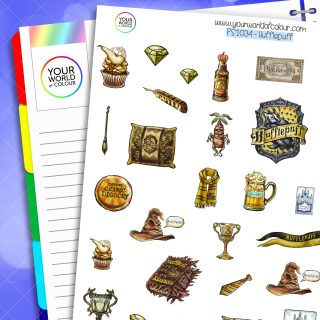 Hufflepuff Planner Stickers