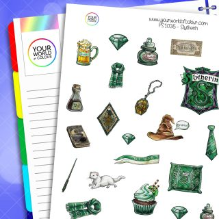 Slytherin Planner Stickers