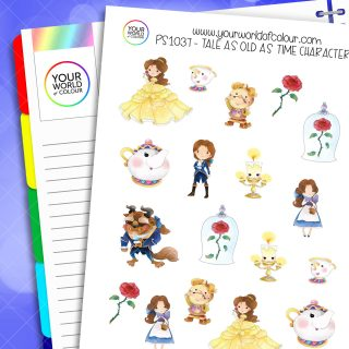 Tale As Old As Time Character Planner Stickers