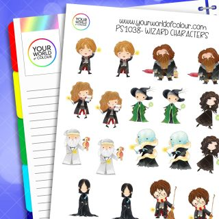 Wizard Character Planner Stickers