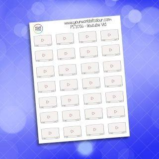 YouTube Video Planner Sticker