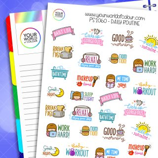 Daily Routine Planner Stickers