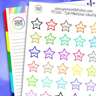 Spin Milestones Colourful Planner Stickers
