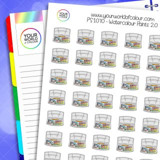 Watercolour Paints Planner Stickers 2.0