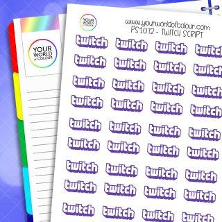 Twitch Script Planner Stickers