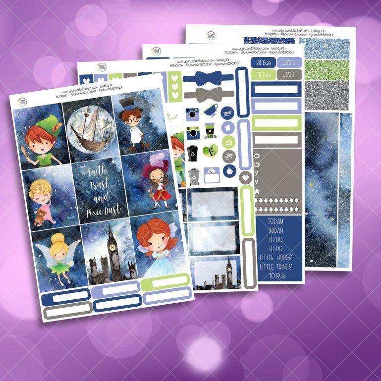 Fairy Tale Full Four Sheet Weekly Planner Sticker Kit