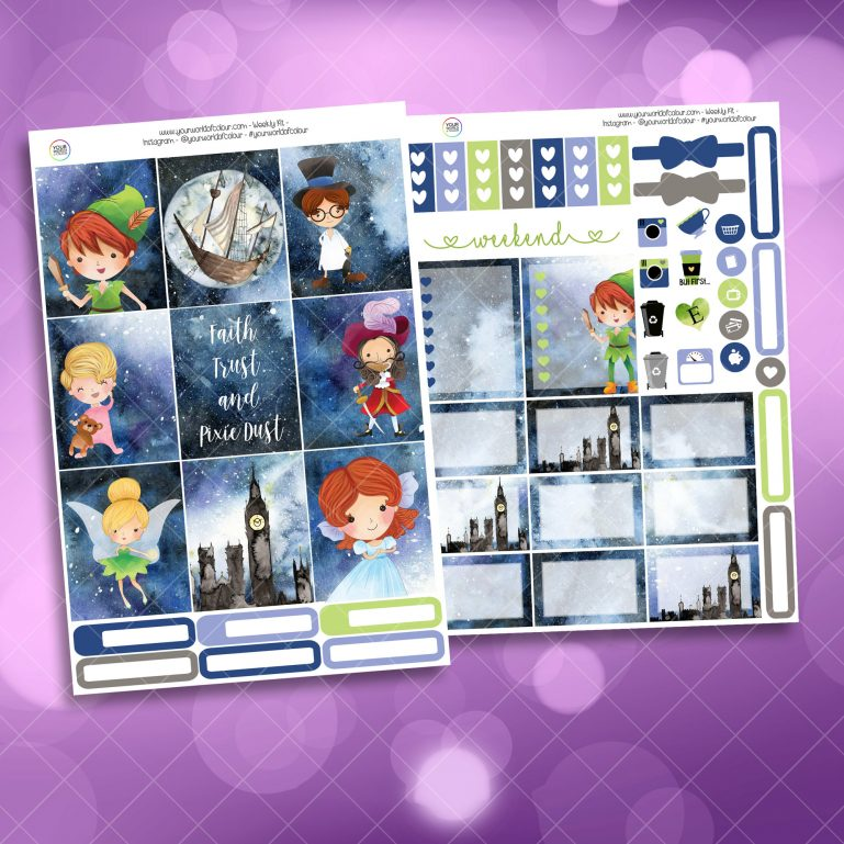 Fairy Tale Two Sheet Weekly Planner Sticker Kit