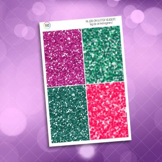 One In A Melon Glitter Headers Add On