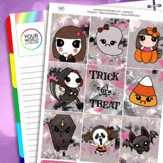 Trick or Treat Weekly Planner Sticker Kit