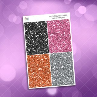 Trick or Treat Glitter Headers Add On