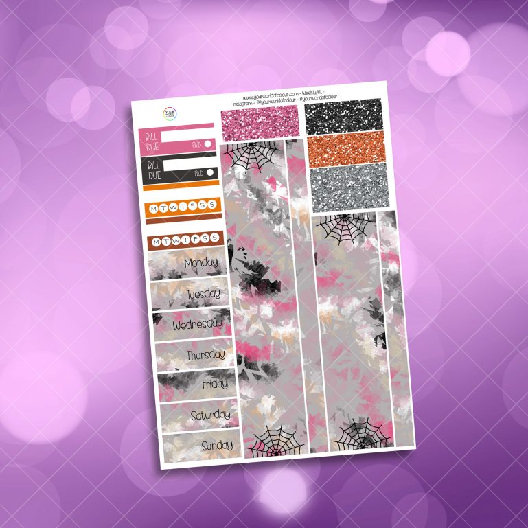 Trick or Treat Washi and Date Cover Stickers