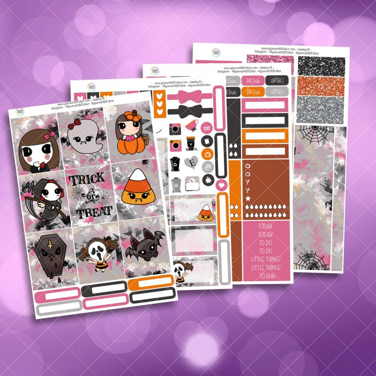Trick or Treat Full Four Sheet Weekly Planner Sticker Kit