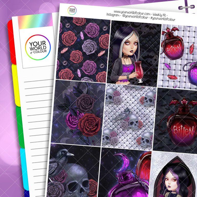 Bitten Weekly Erin Condren Planner Sticker Kit