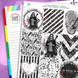 Music Weekly Erin Condren Planner Sticker Kit