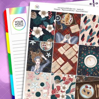 Christmas Comforts Weekly Erin Condren Planner Sticker Kit