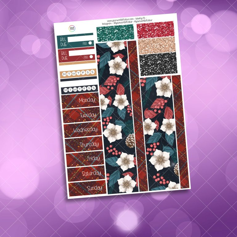 Christmas Comforts Washi and Date Cover Stickers