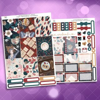 Christmas Comforts Two Sheet Weekly Planner Sticker Kit