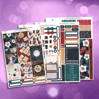 Christmas Comforts Full Four Sheet Weekly Planner Sticker Kit