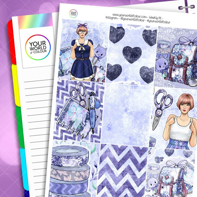 Cool For School Weekly Erin Condren Planner Sticker Kit