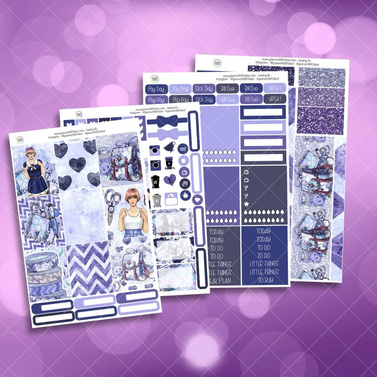 Cool For School Full Four Sheet Weekly Planner Sticker Kit