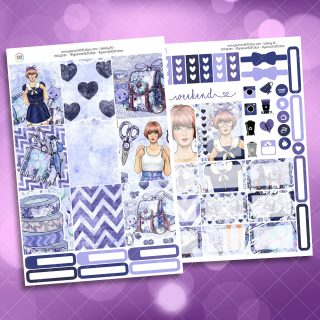 Cool For School Two Sheet Weekly Planner Sticker Kit