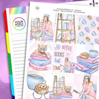 Bookish Weekly Erin Condren Planner Sticker Kit