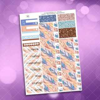 Boho Washi and Date Cover Stickers