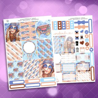 Boho Two Sheet Weekly Planner Sticker Kit