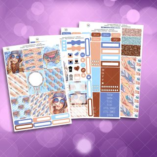 Boho Full Four Sheet Weekly Planner Sticker Kit